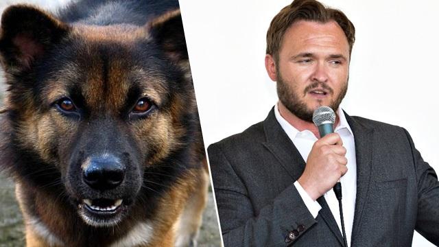 Дэн Йоргенсен и собака