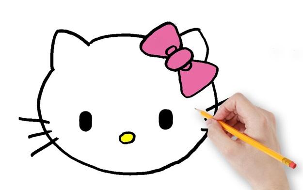 хелло китти карандашом
